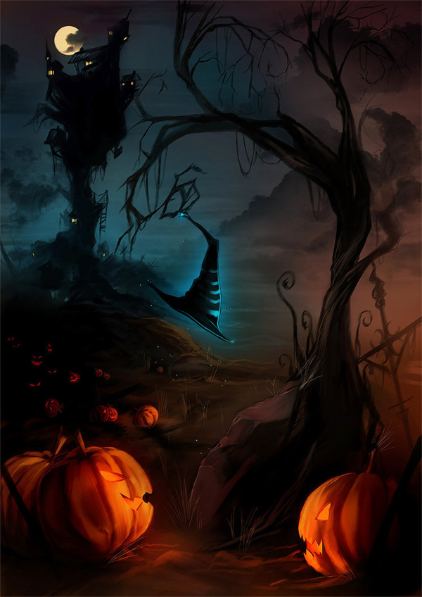 Happy Halloween by yaichino photoshop resource collected by psd-dude.com from deviantart