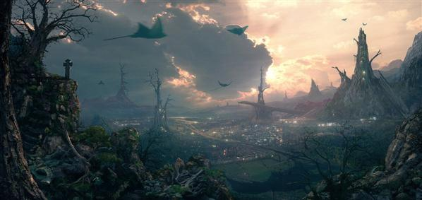 Environment Deadwood Matte Painting