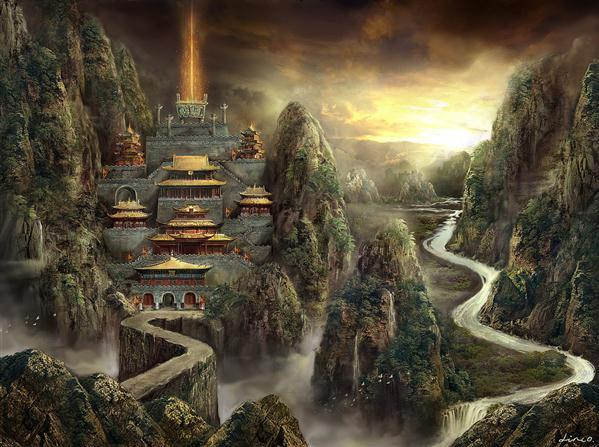The Ancient City Matte Painting