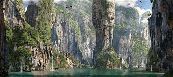Tropical Islands Matte Painting