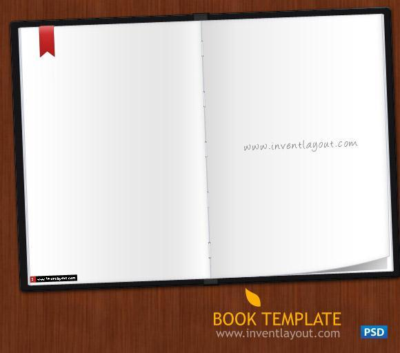 Book Template Mockup PSD