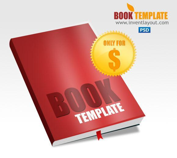 Book Template PSD Mockup