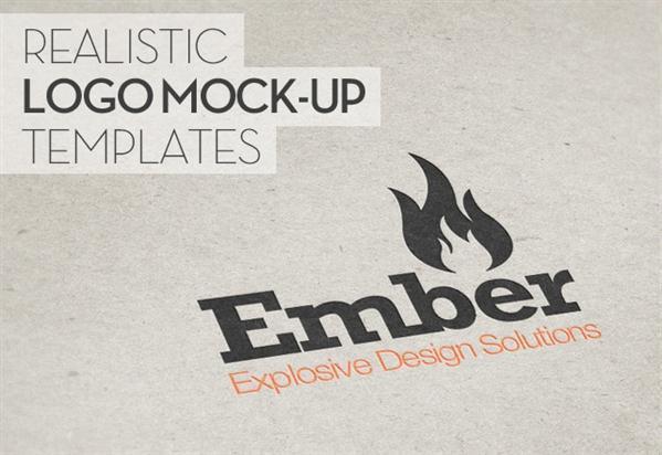 Realistic Logo Mockup PSD Template