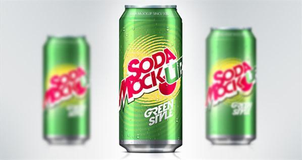 Soda Can Mockup PSD Free Download