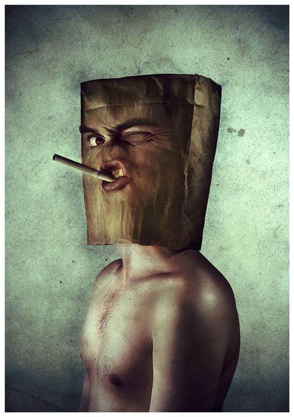 Mr Paper Bag by anderton photoshop resource collected by psd-dude.com from deviantart