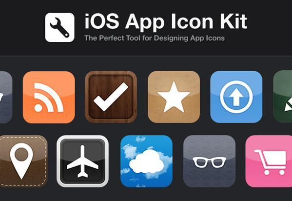 Iphone app icon kit PSD - Free
