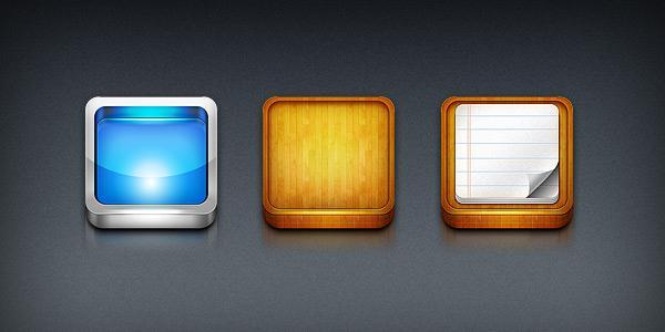Iphone App Icon Templates PSD - Free