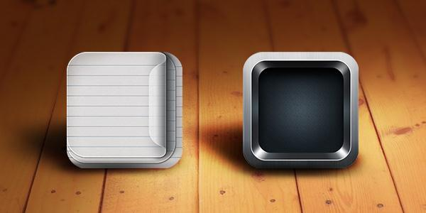 Retina ready IOS app icon PSD - Free