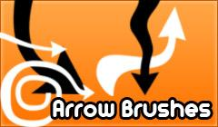 Arrows by Brushoxi photoshop resource collected by psd-dude.com from deviantart