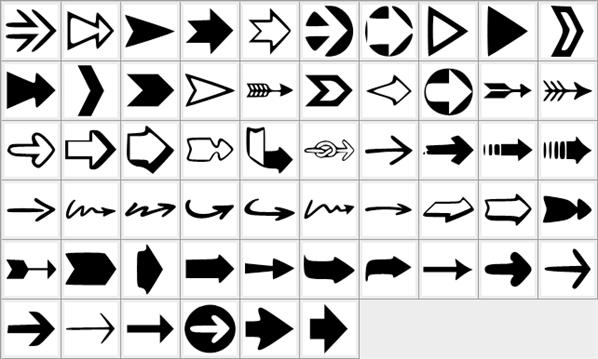 Arrow Shapes Photoshop