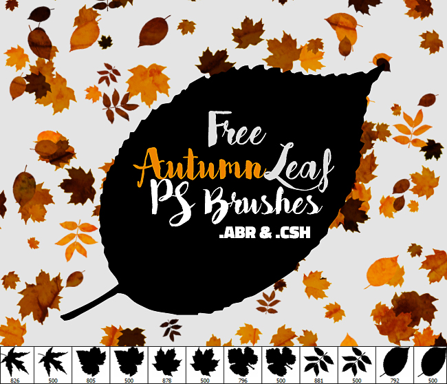 falling leaf brushes and shapes for photoshop