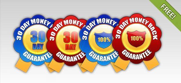 30 day money back guarantee Badge Template