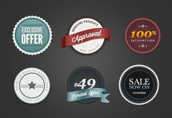 Badge And Label Vector Template With Psd File  Psddude