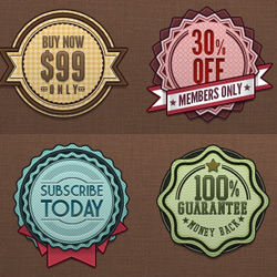Badge and Label Vector Template with PSD File psd-dude.com Resources