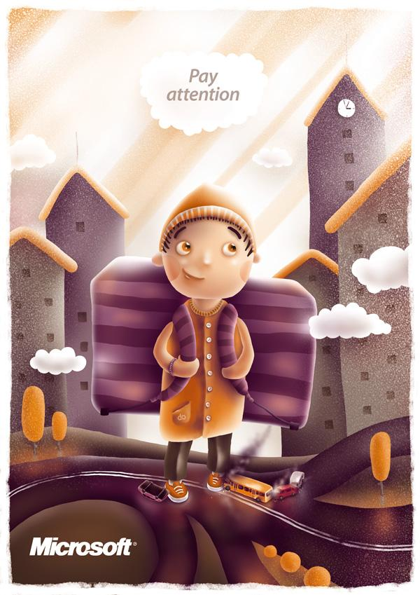 Road Safety for Kids by Fil Dunsky; photoshop resource collected by psd-dude.com from Behance Network