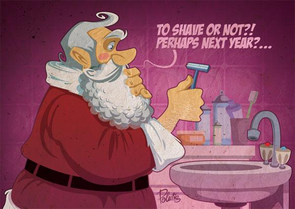Christmas FlyCards by Ilya Polutis; photoshop resource collected by psd-dude.com from Behance Network