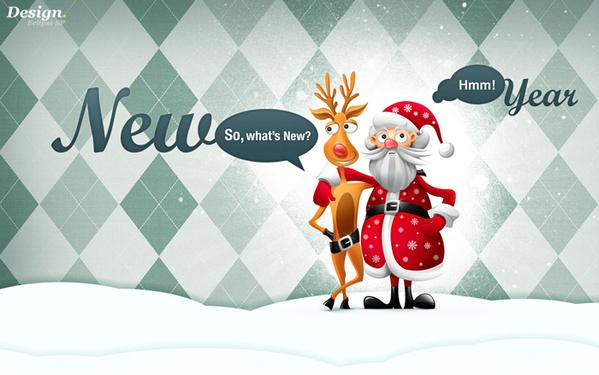 Wallpaper Christmas couple by Egor Kosten; photoshop resource collected by psd-dude.com from Behance Network