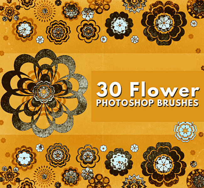 30 Flower Photoshop Brushes