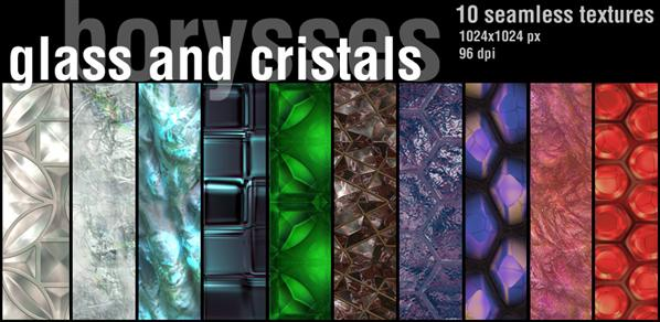 Glass and crystals by borysses photoshop resource collected by psd-dude.com from deviantart
