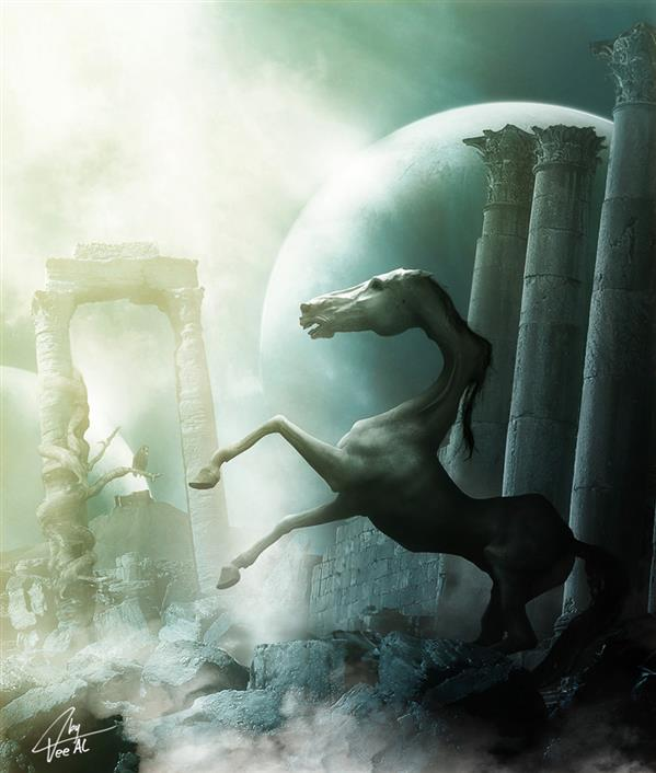 apocalypse horse by TeeAl photoshop resource collected by psd-dude.com from deviantart
