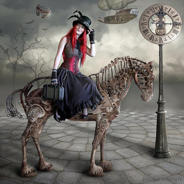 Steampunk Metal Horse in Photoshop