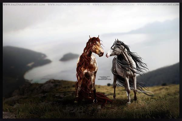 Two Horses Against the World