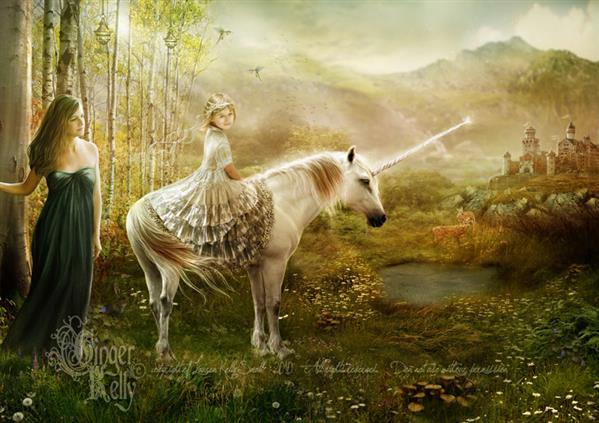 Unicorn Princess by GingerKellyStudio photoshop resource collected by psd-dude.com from deviantart