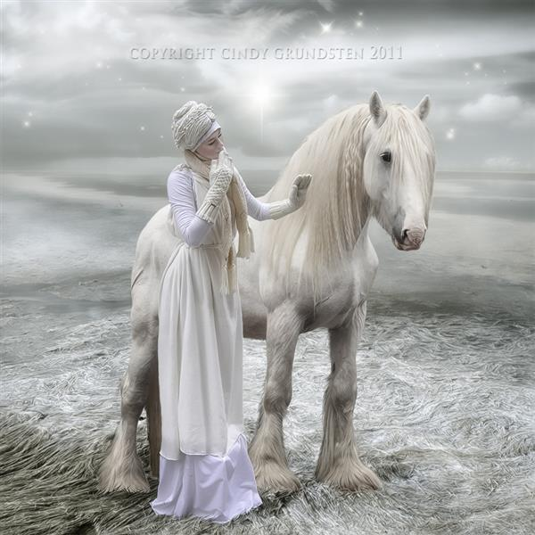 White wild beauty by CindysArt photoshop resource collected by psd-dude.com from deviantart