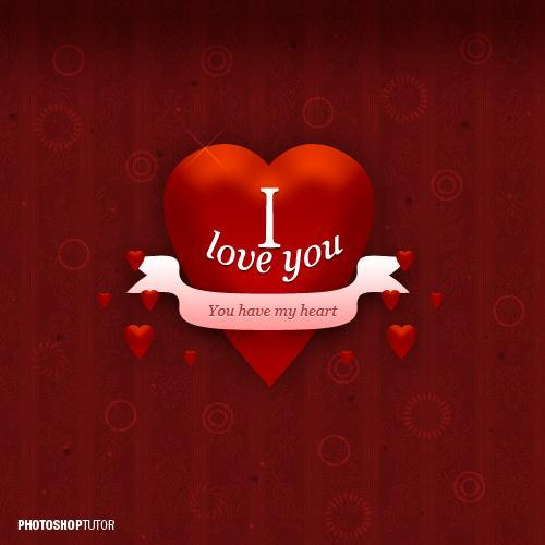 Happy Valentines Day Card Photoshop Tutorial