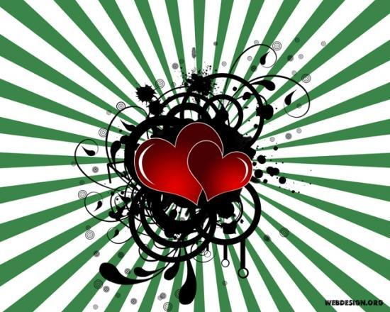 Photoshop Backgrounds Hearts Hearts And Sunburst Background