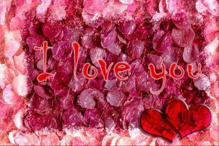 I love You Valentine Day Card in Photoshop