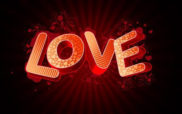 Love Valentine Day 3D Text Effect in Photoshop