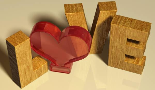 Valentines day inspired 3D Love text effect in Photoshop