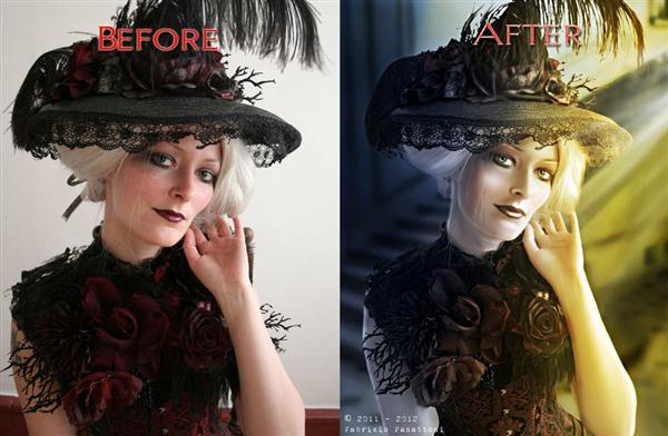 Before After Portrait Retouch and Manipulation