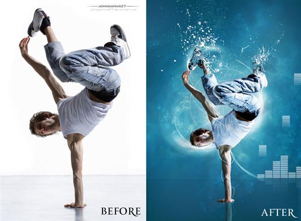 Break dance before after manipulation