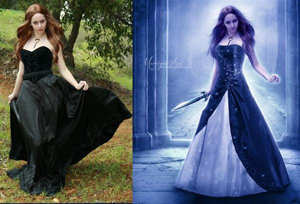 Cinderellas Revenge Before and After Photoshop