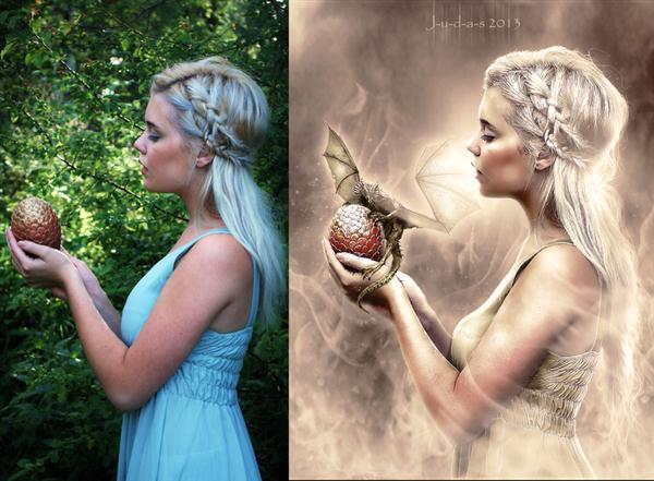 Daenerys Photoshop Portrait Manipulation