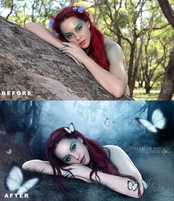 Dream Of You Before After Photoshop Manipulation