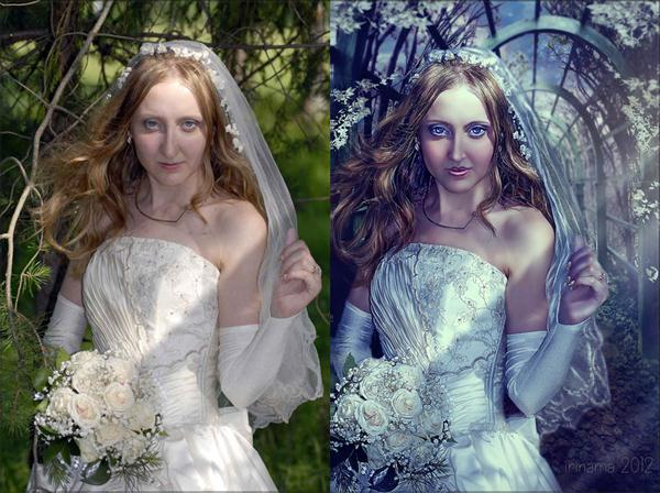 The bride before and after by irinama photoshop resource collected by psd-dude.com from deviantart