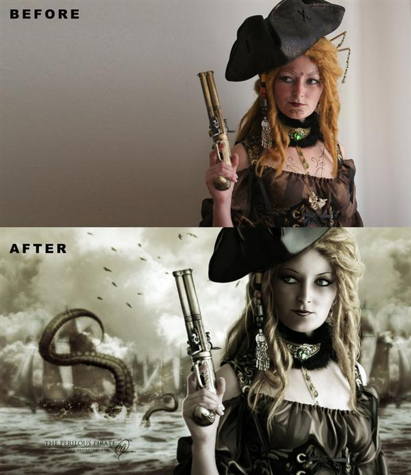 The Pirate Before After Manipulation