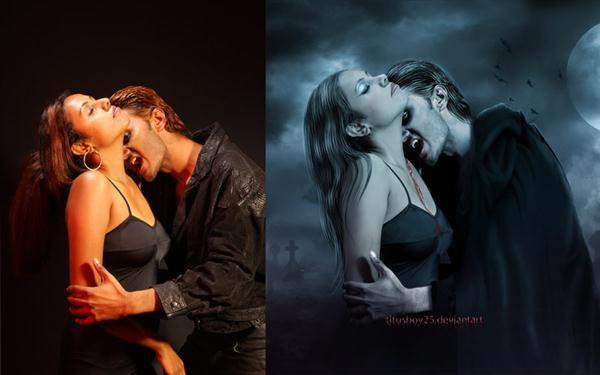 Vampires Before and After Photoshop Work