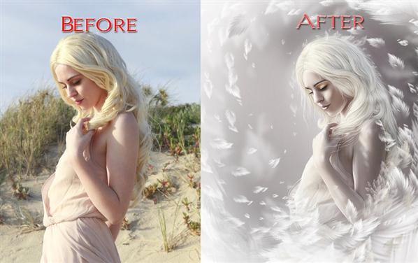 Angelic Woman Photo Manipulation