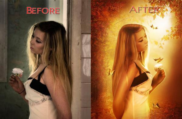 Before After Manipulation Retouch