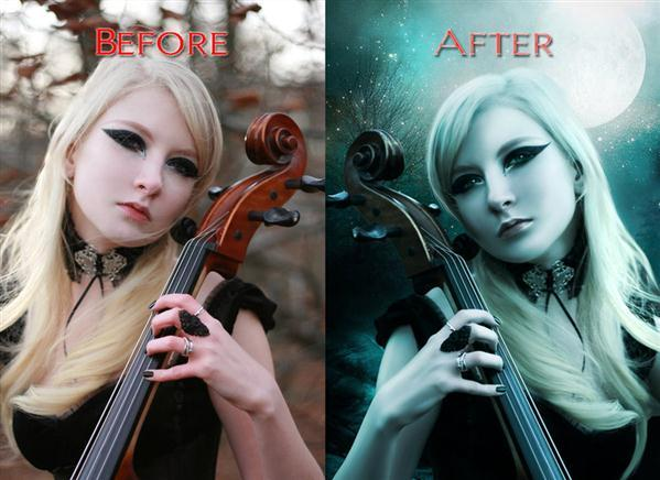 Before After Moon Photoshop Manipulation