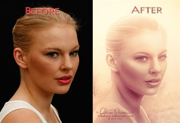 Before After Portrait Retouch