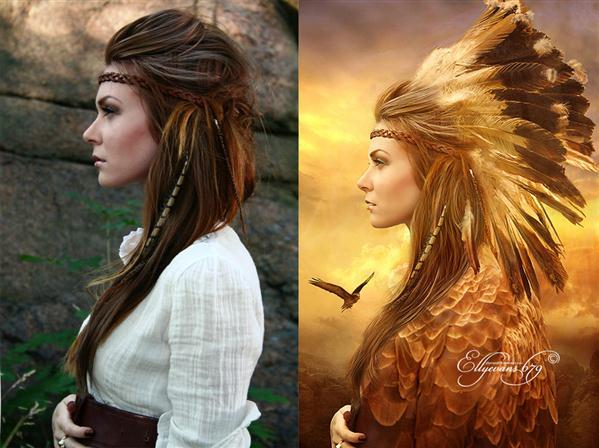 Before and After Eagle Totem Spirit