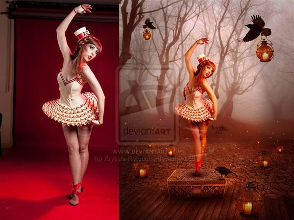 Dancing Doll Before After Manipulation