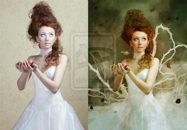 Fantasy Dream Before After Photoshop Manipulation