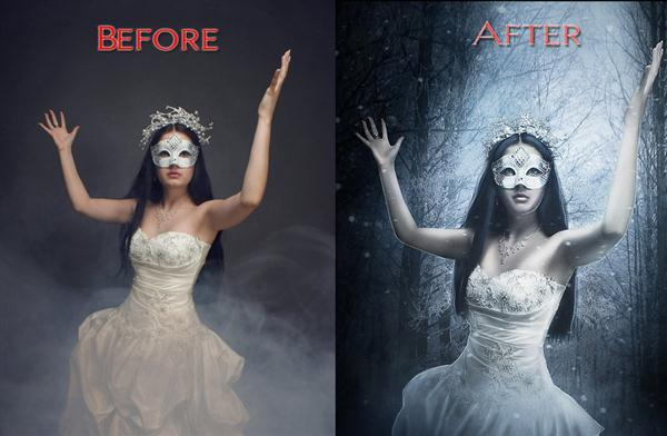 Ice Queen Photoshop Manipulation