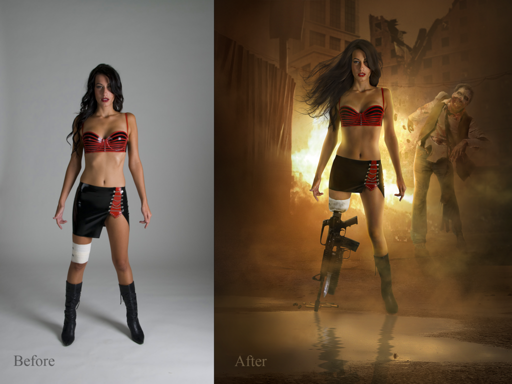 Planet terror Before and After by JtotheOtotheE photoshop resource collected by psd-dude.com from deviantart
